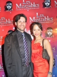 with Maria Eberline at the opening of LES MIZ at Paper Mill -- November, 2010